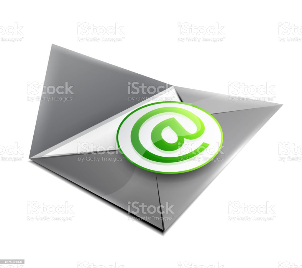 Vector e-mail icon royalty-free stock vector art
