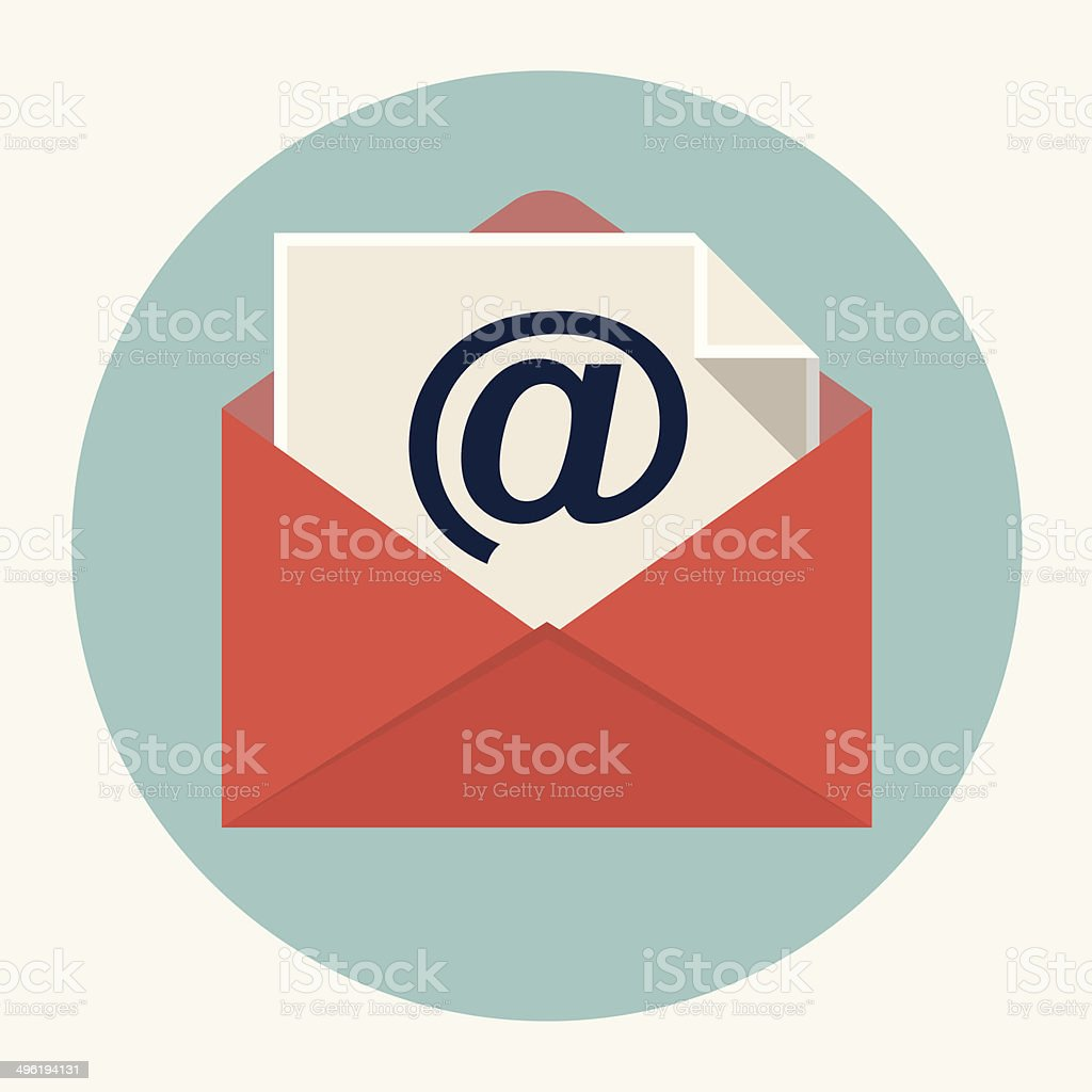 Vector e-mail icon vector art illustration