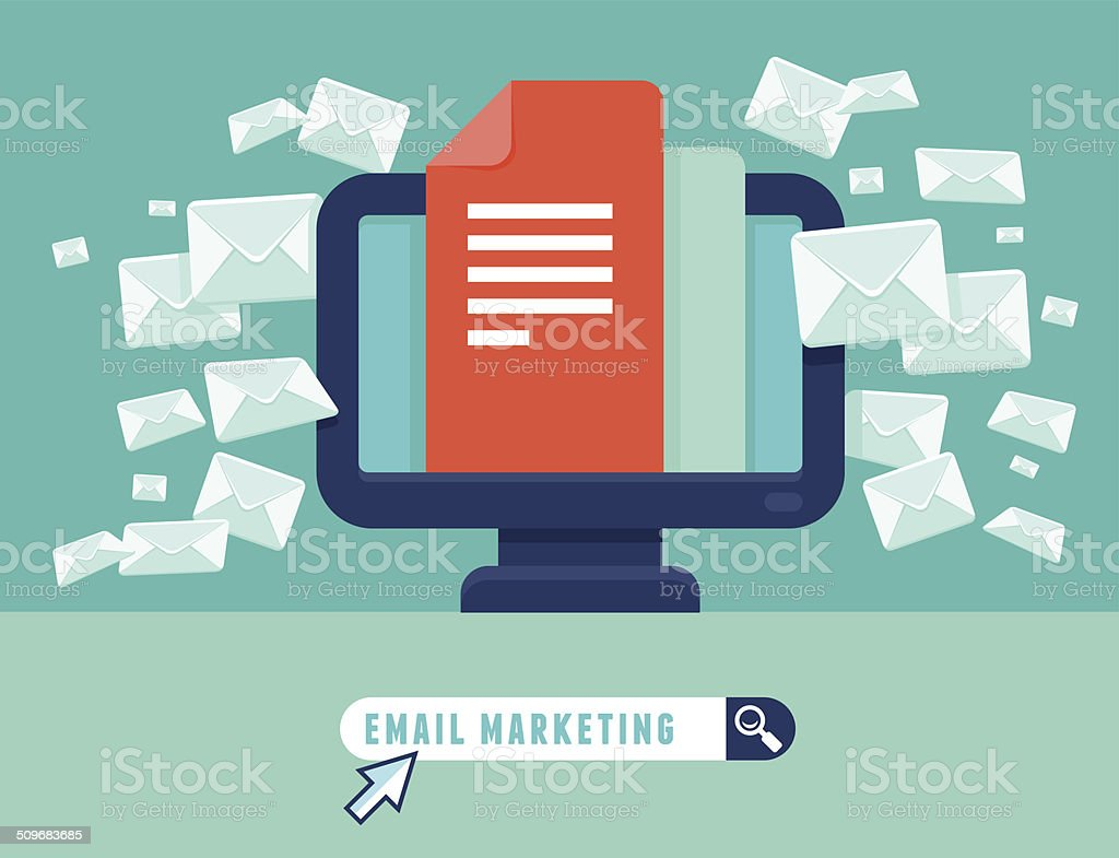 Vector email marketing concept vector art illustration