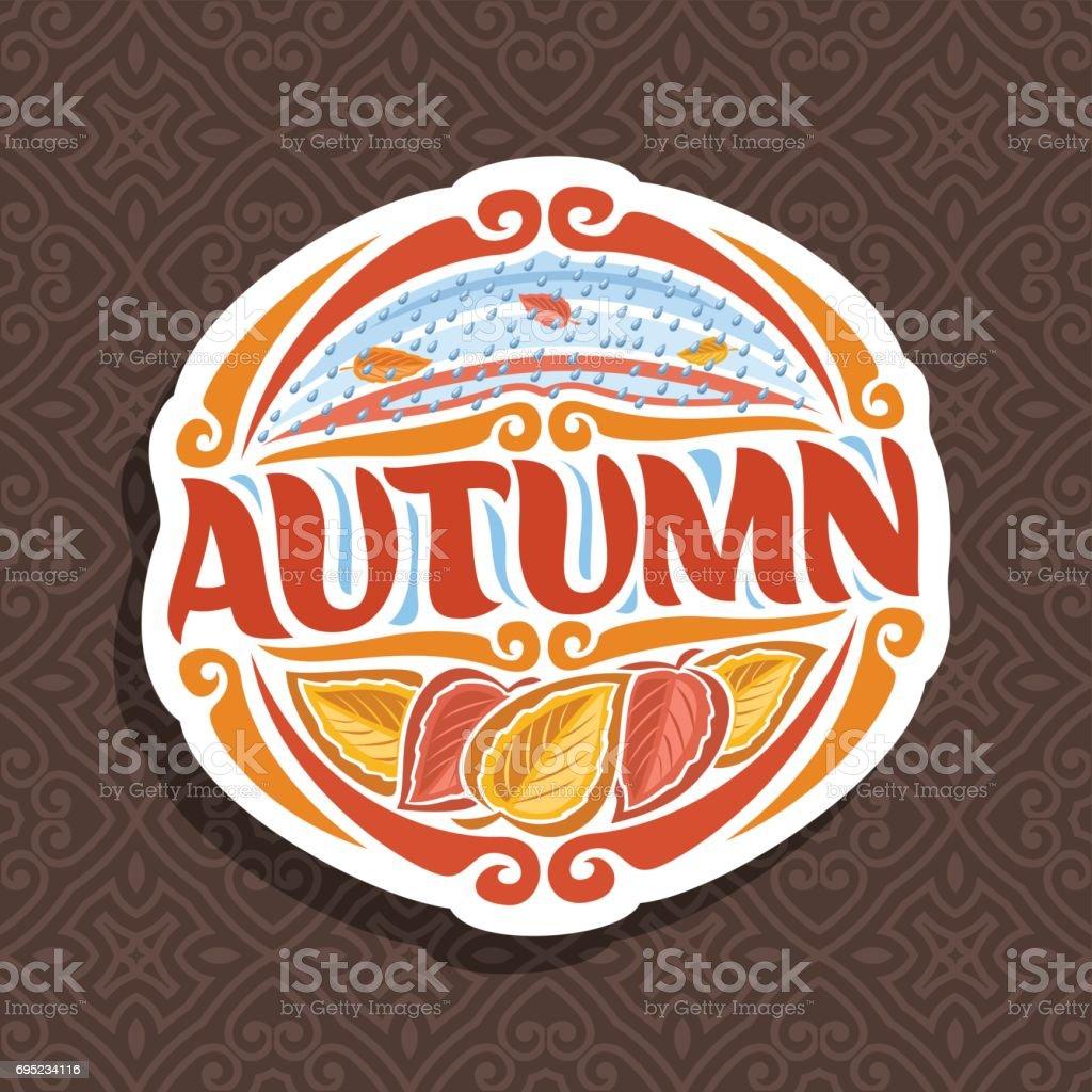 Vector emblem for Autumn season vector art illustration