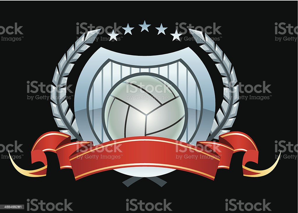 vector emblem with volleyball elements royalty-free stock vector art