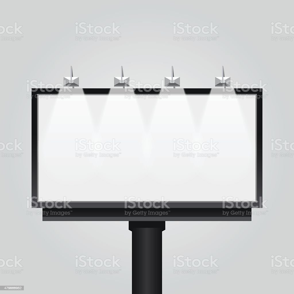 Vector empty billboard sign vector art illustration
