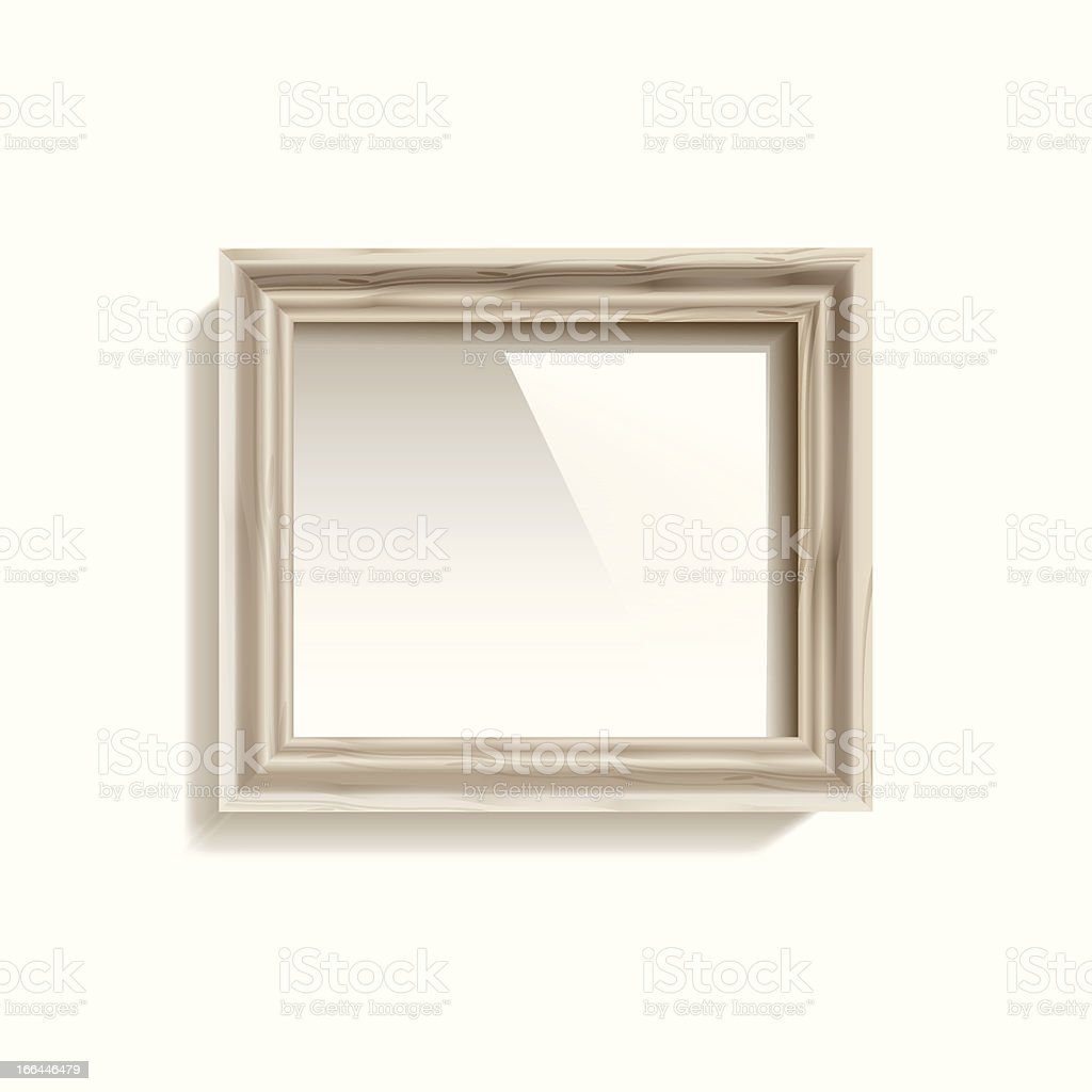 Vector Empty Frame On The Wall royalty-free stock vector art