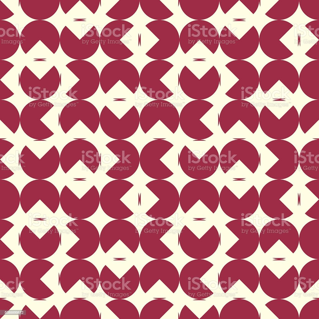 Vector endless pattern composed with geometric shapes. Graphic tile vector art illustration