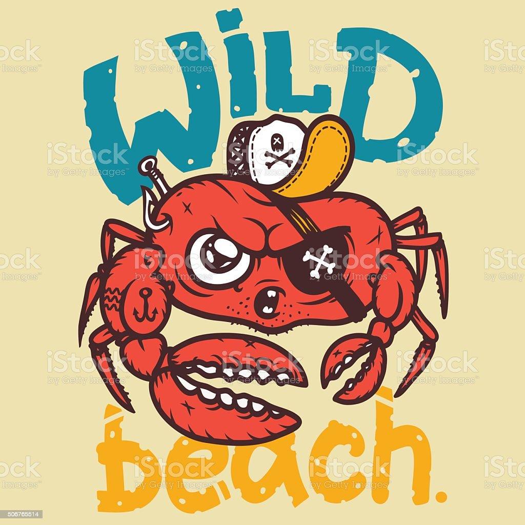 Vector EPS crab vector art illustration