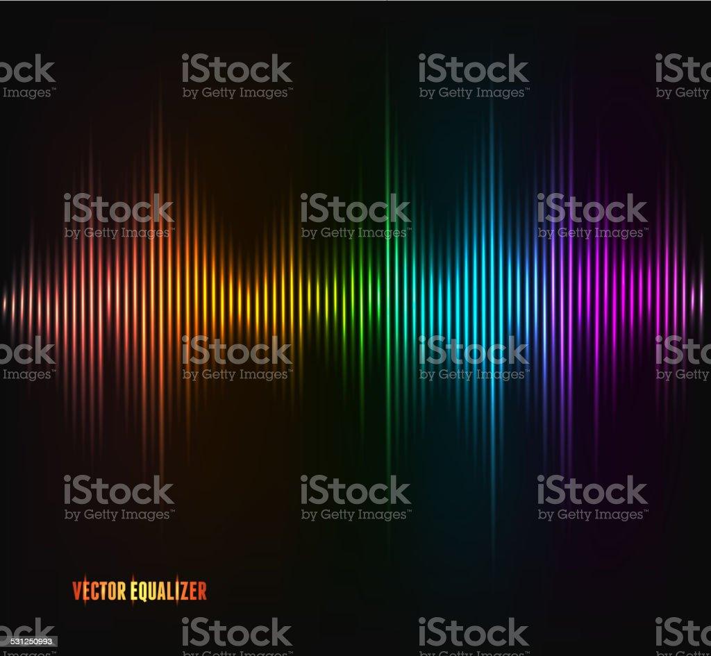 Vector equalizer, colorful musical bar. vector art illustration