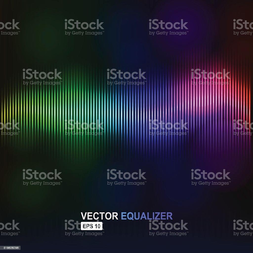 Vector equalizer vector art illustration