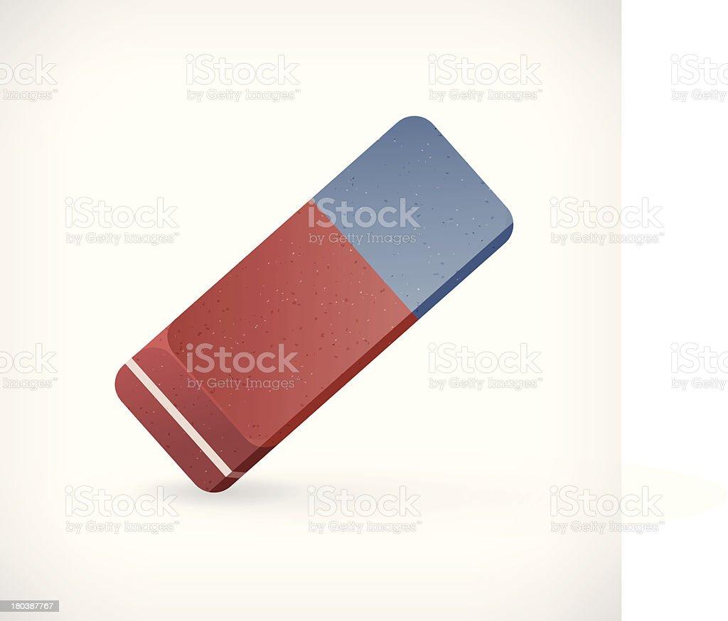 Vector eraser illustration royalty-free stock vector art