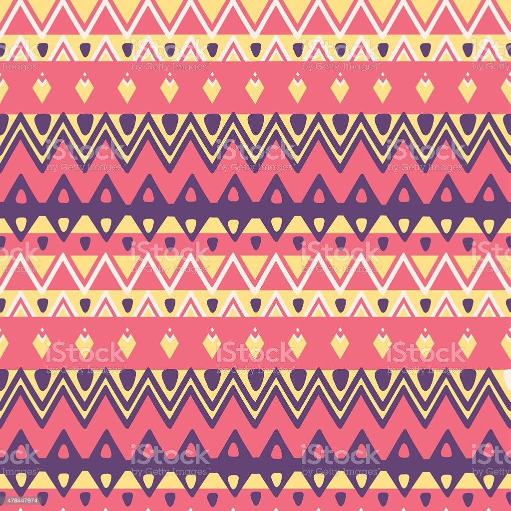 Vector ethnic seamless pattern vector art illustration