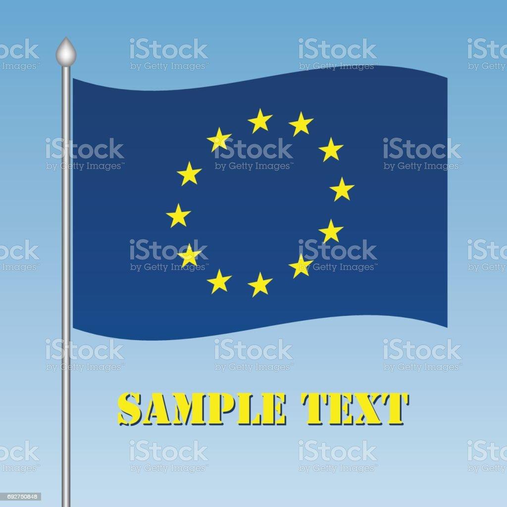 vector EU flag vector art illustration