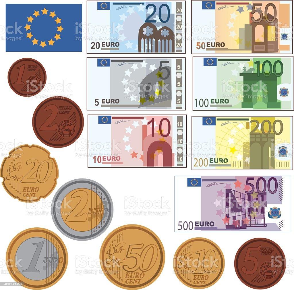 Vector Euro Money vector art illustration