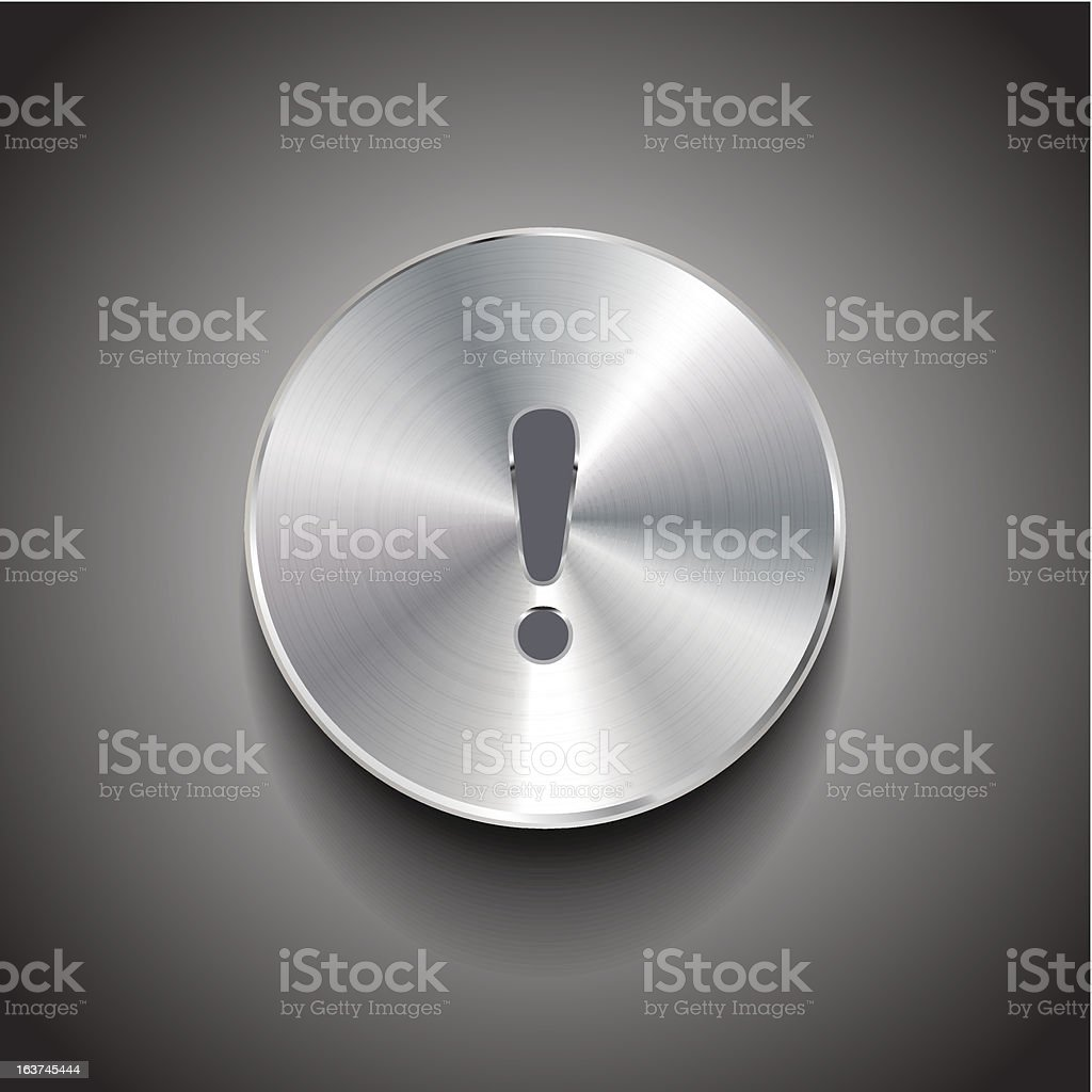 Vector exclamation mark button royalty-free stock vector art
