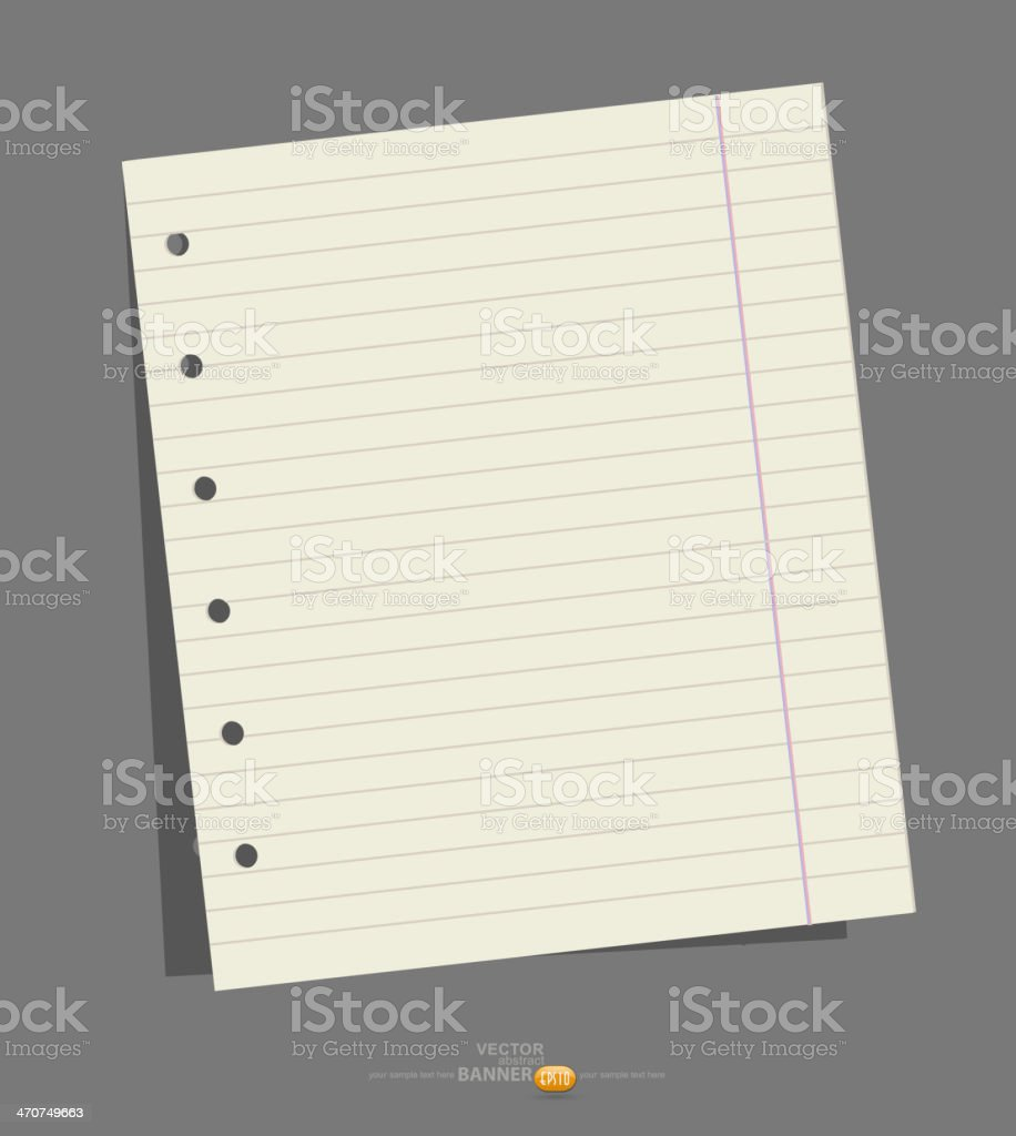 vector exercise book for notes royalty-free stock vector art