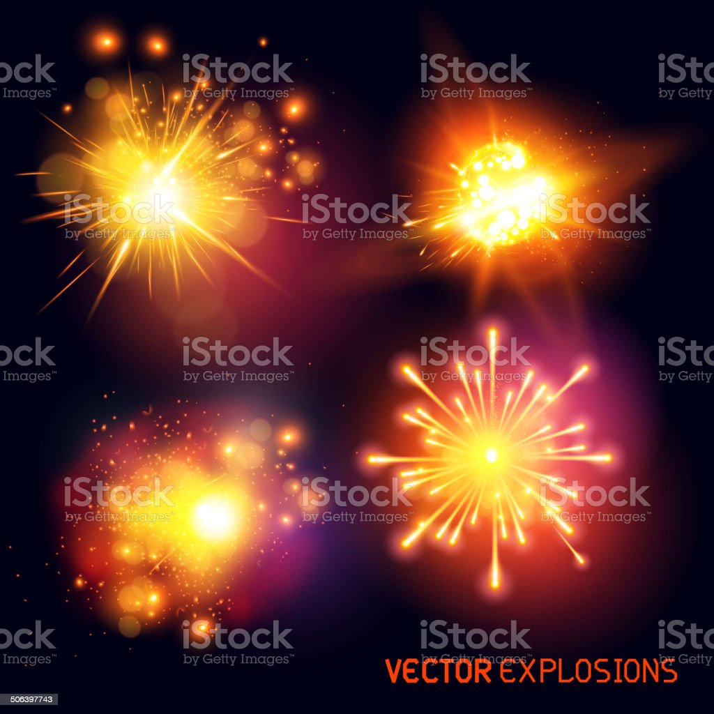 Vector Explosions vector art illustration