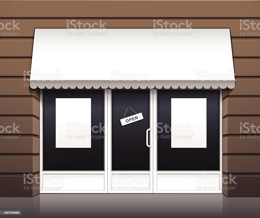 Vector Exterior of Restaurant Cafe Shop Front vector art illustration