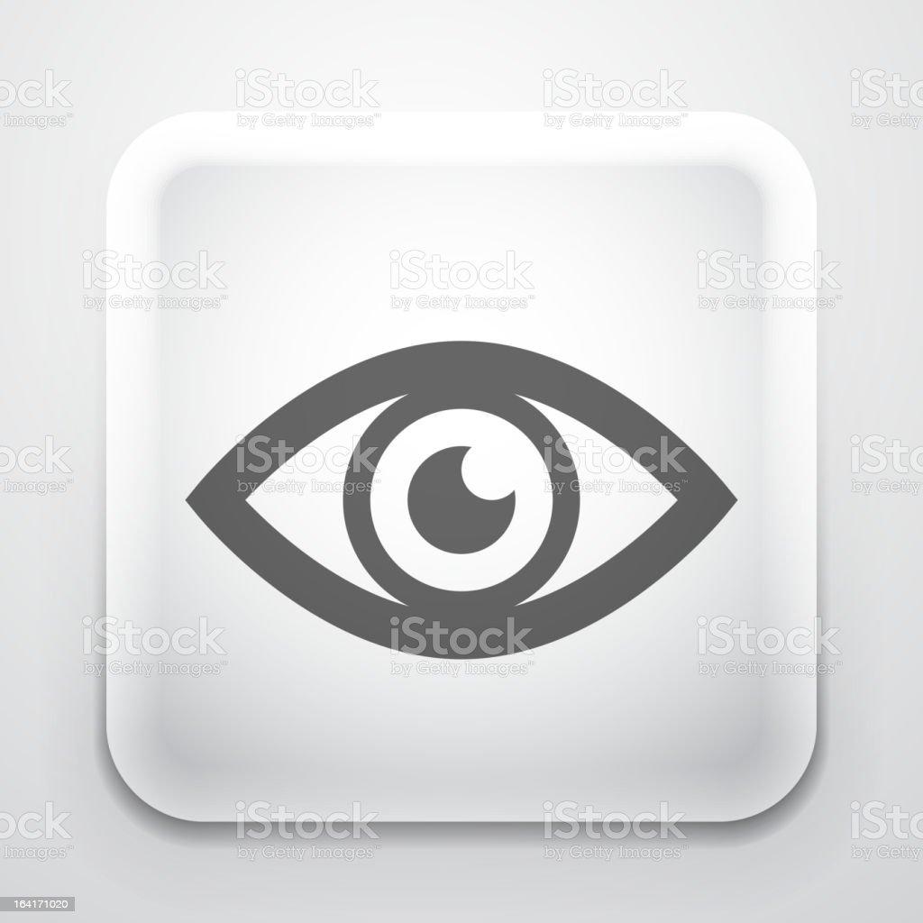 Vector eye button vector art illustration