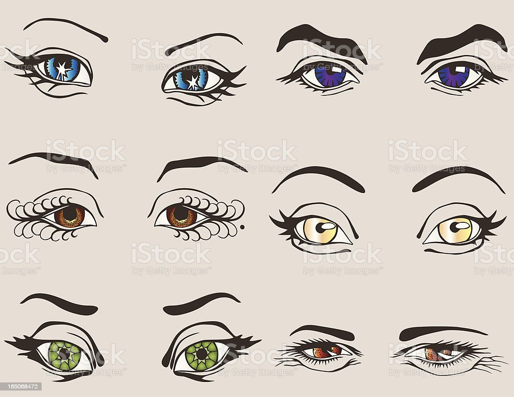 Vector Eyes vector art illustration