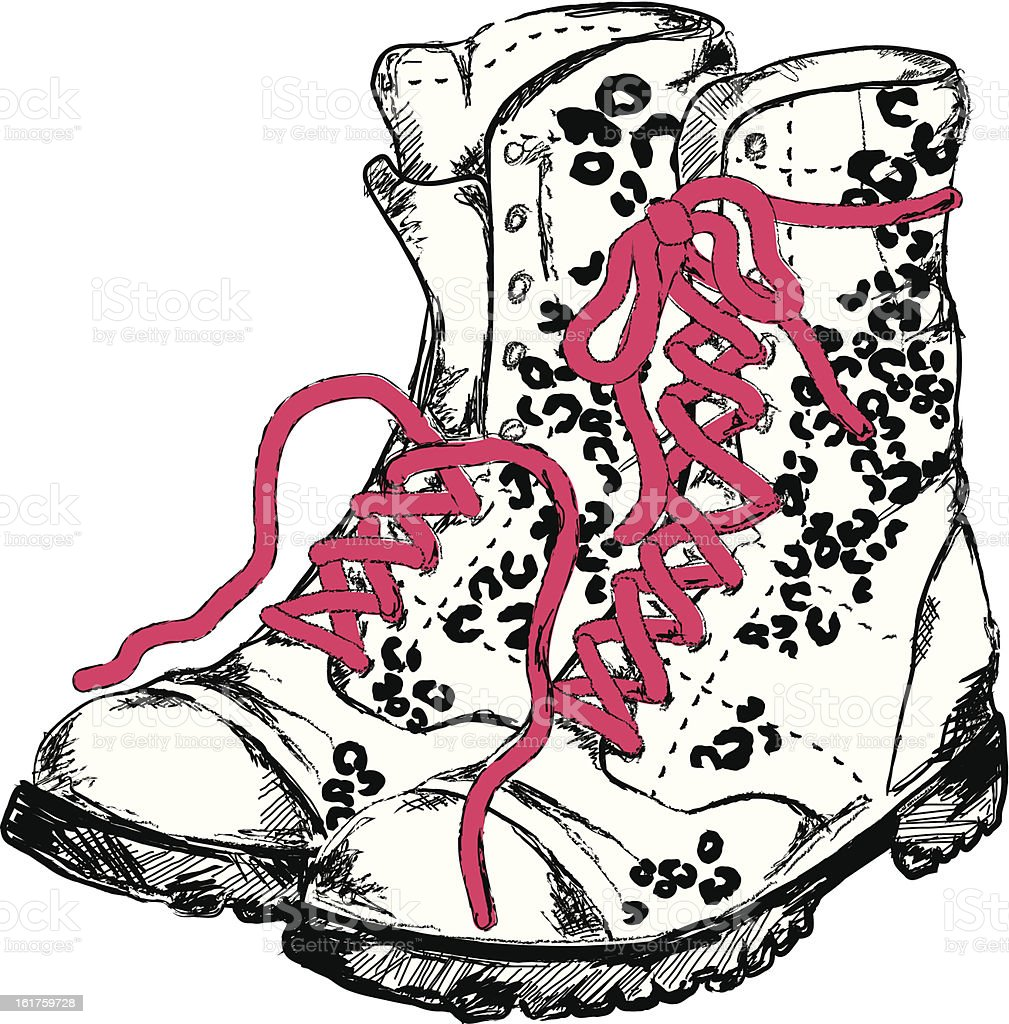Boots fashion pic boots clip art - Vector Fashion Boots Illustration Very Detailed Royalty Free Stock Vector Art