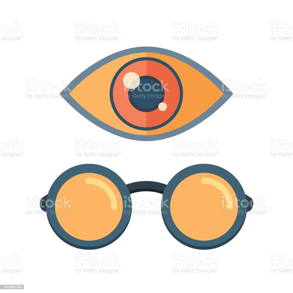 Vector fashion glasses and eye symbol vector art illustration