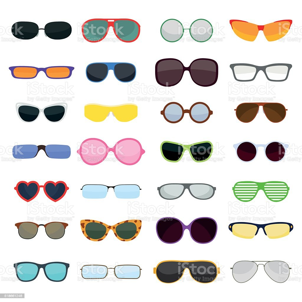 Vector fashion glasses isolated on white background vector art illustration