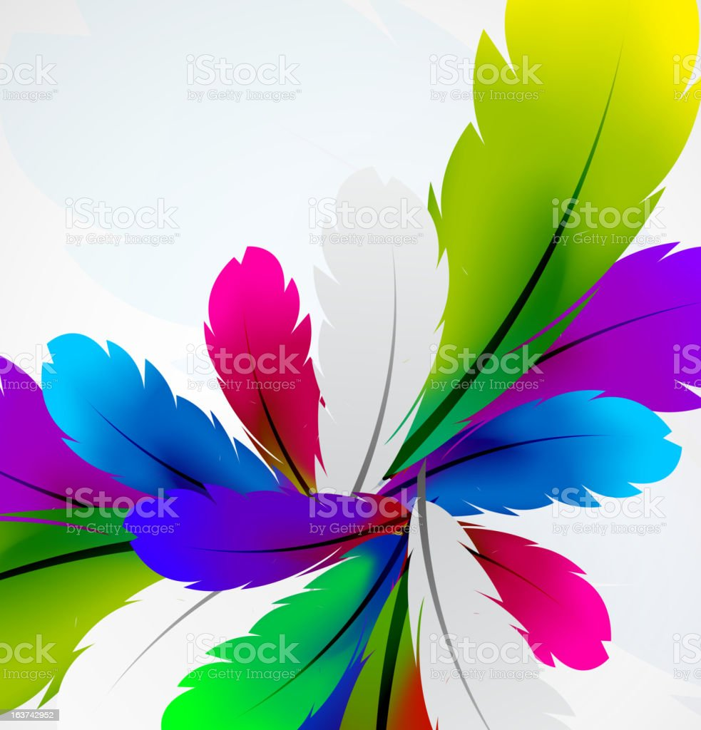 Vector feather background royalty-free stock vector art
