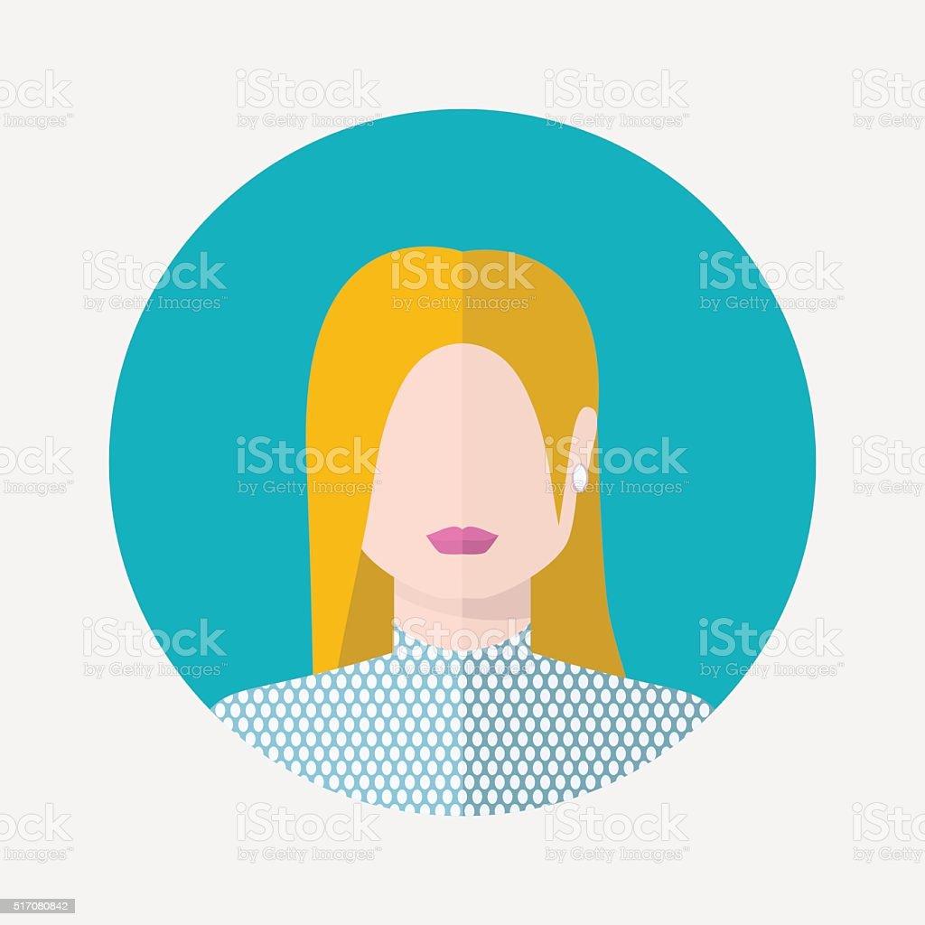 Vector female nordic avatar vector art illustration