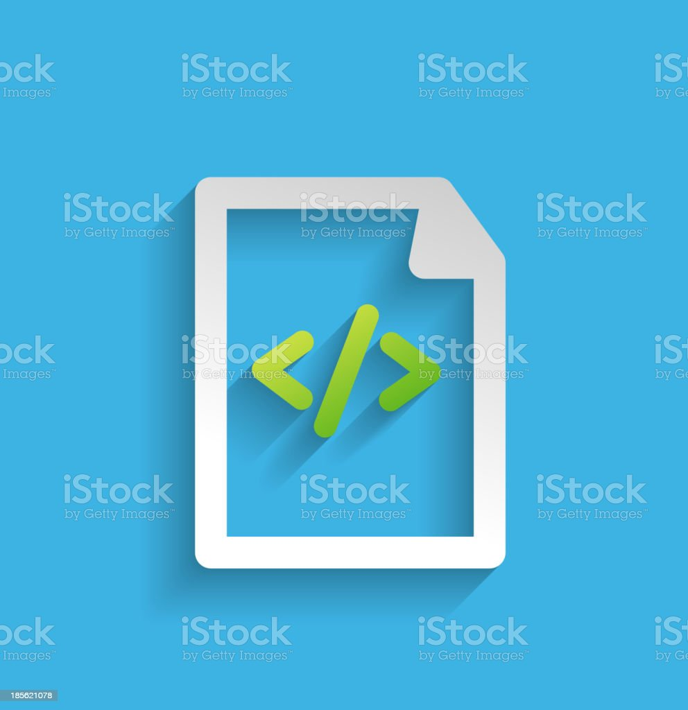 Vector file / program flat icon royalty-free stock vector art