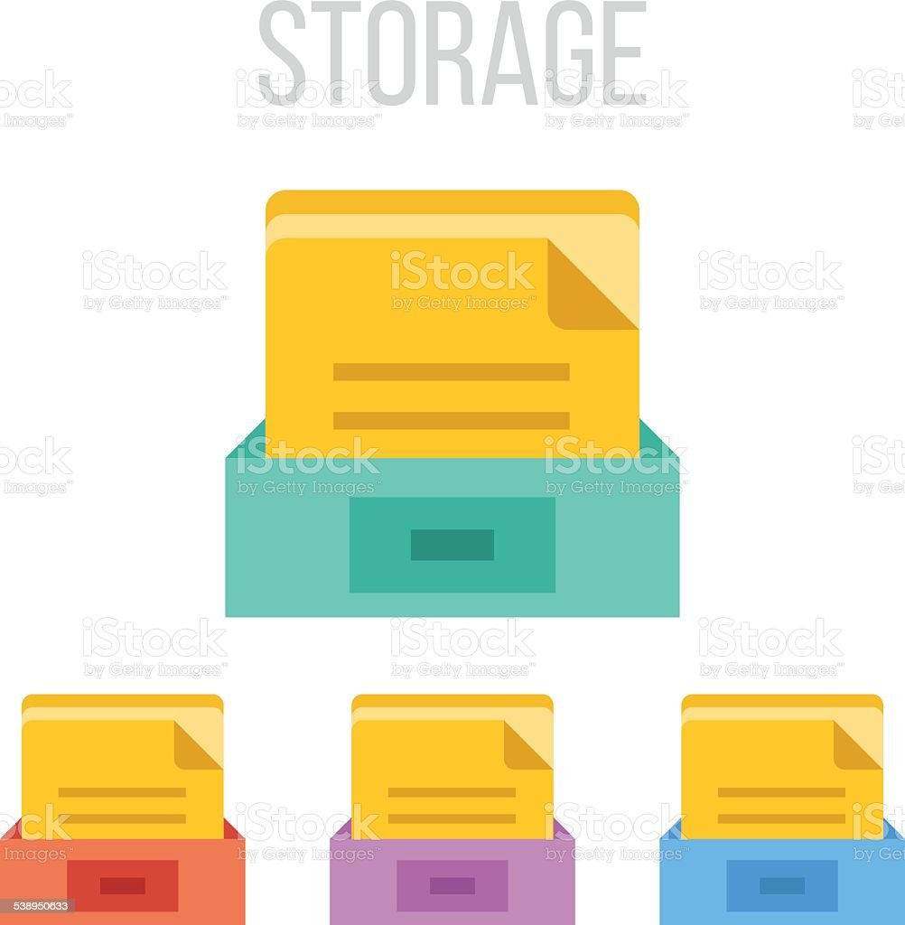 Vector file storage icons vector art illustration