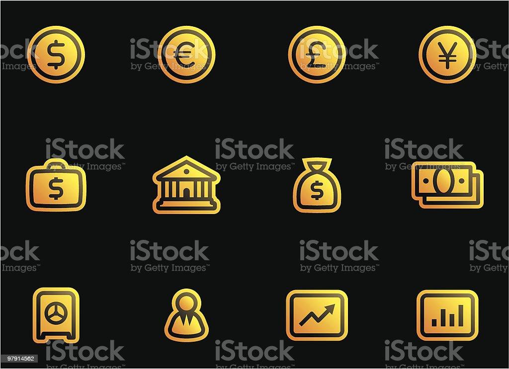 Vector Finance, Banking Icon Set royalty-free stock vector art