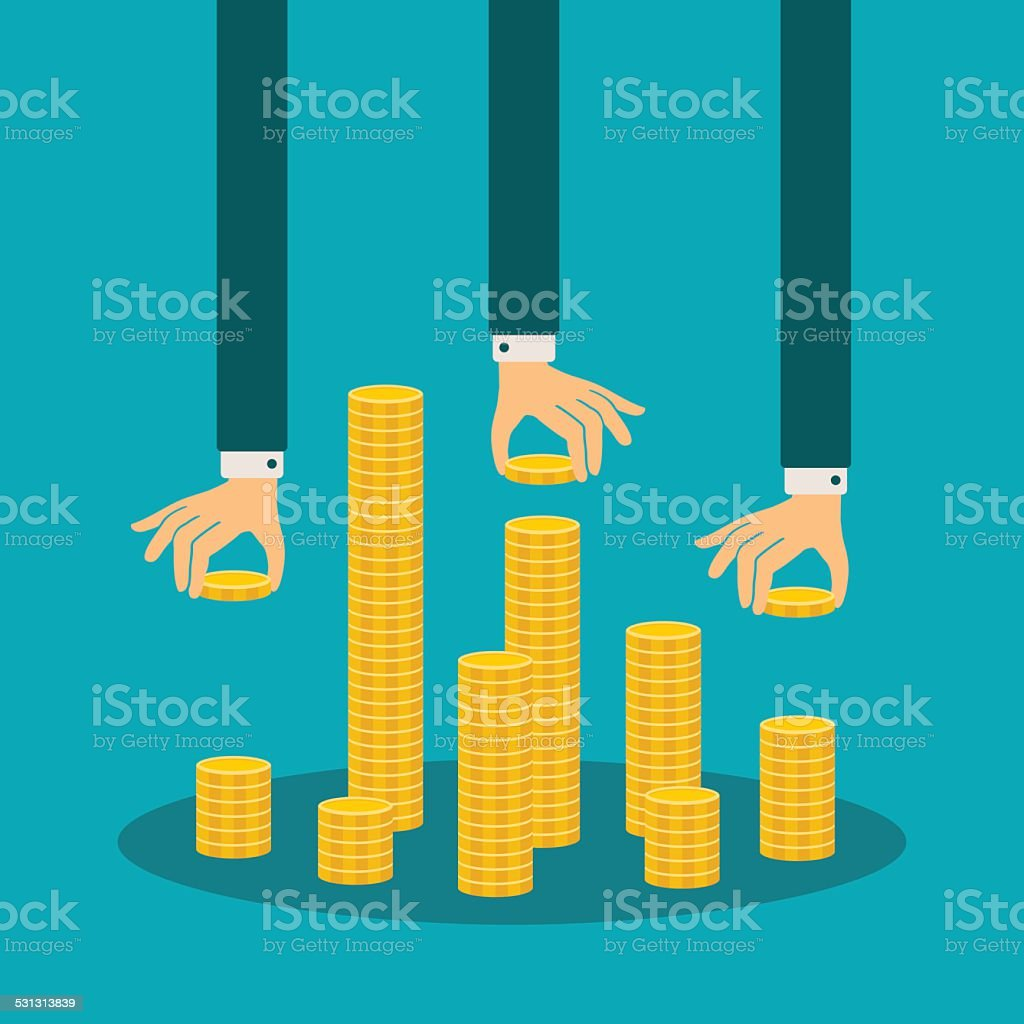 Vector financial management concept vector art illustration