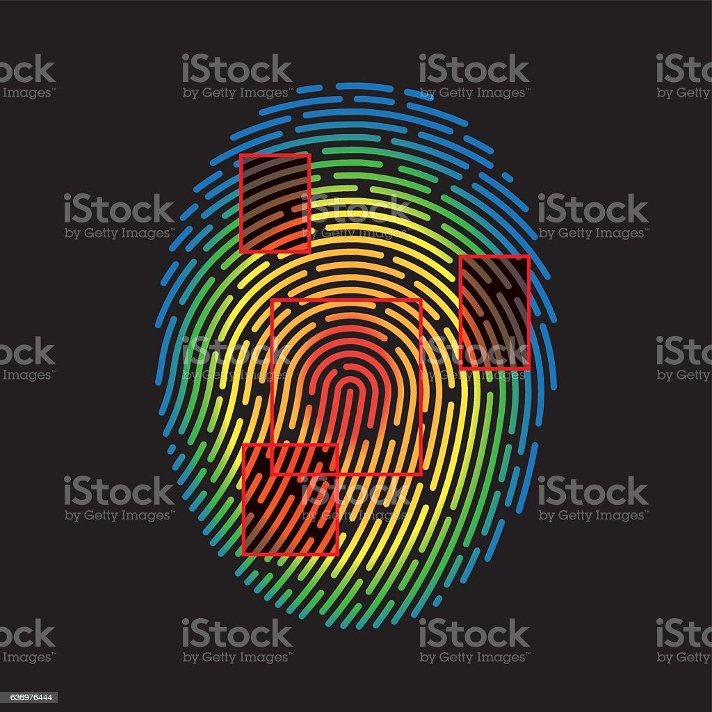 Vector Fingerprint vector art illustration