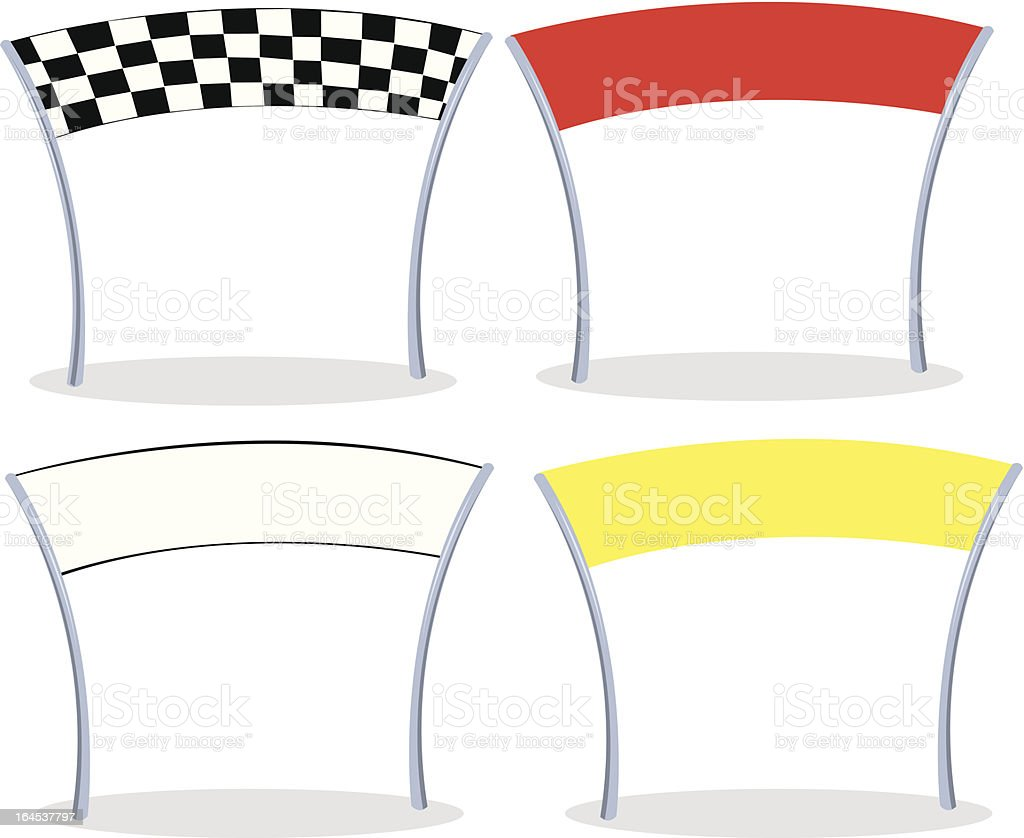vector finish lines royalty-free stock vector art
