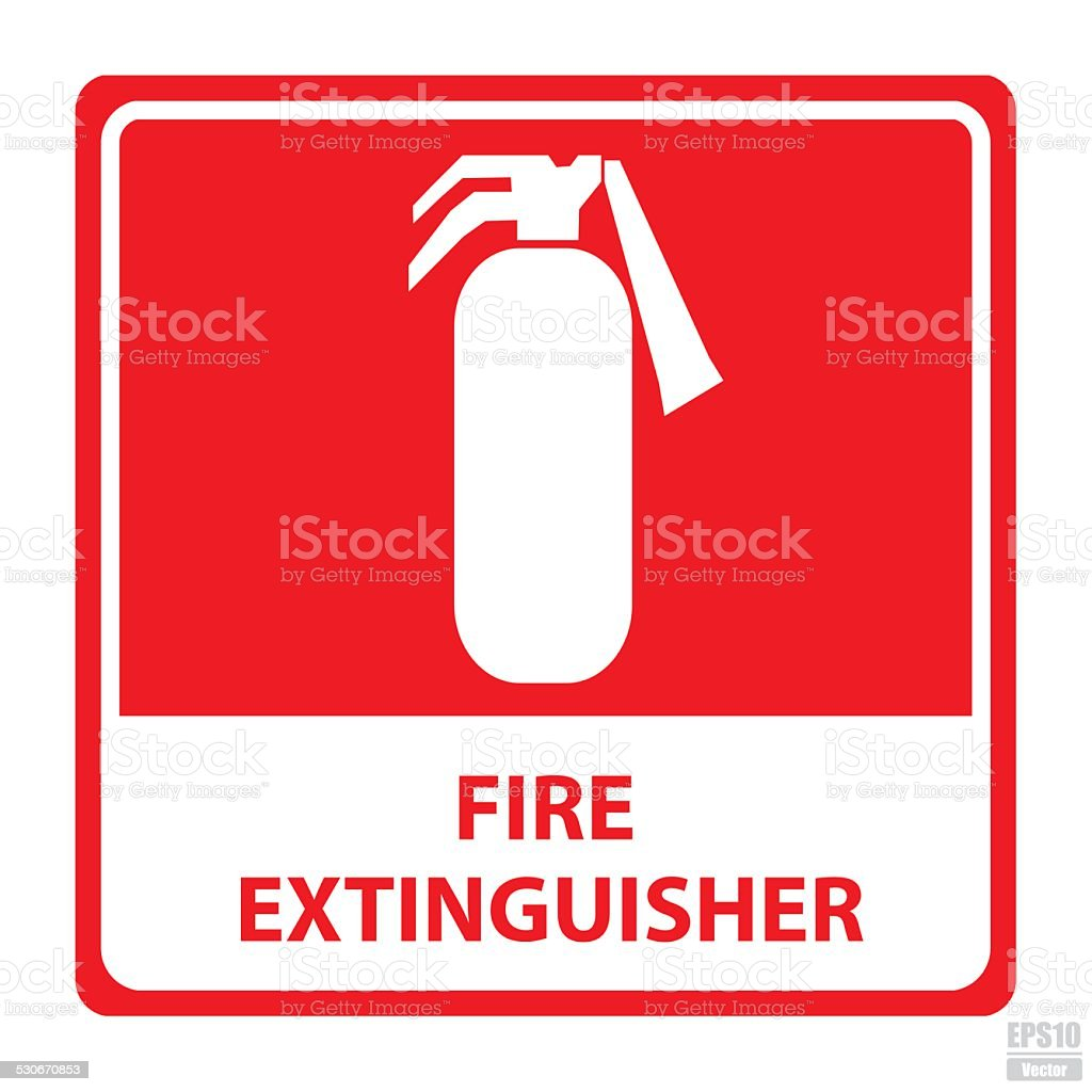 Vector : Fire extinguisher sign.Eps10 royalty-free stock vector art