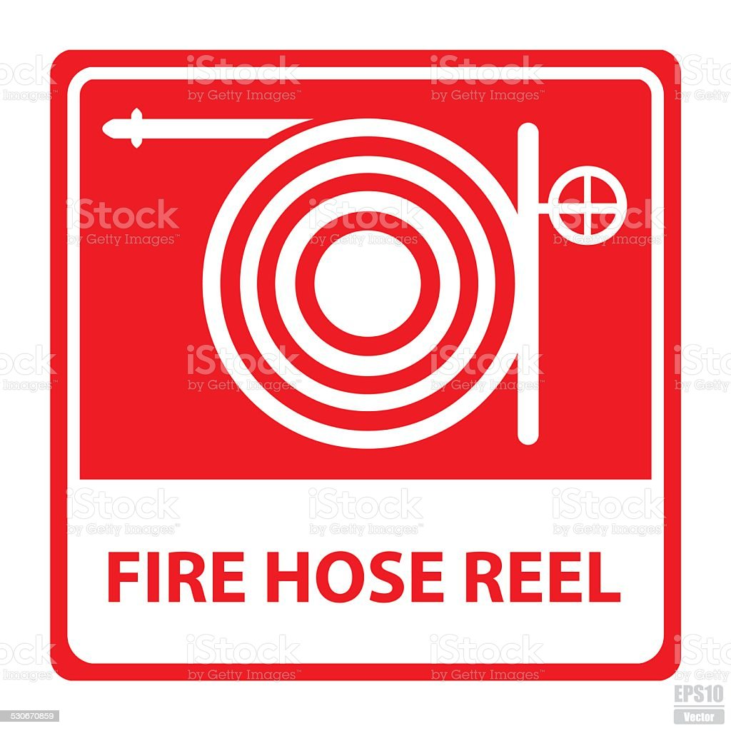 Vector : Fire hose reel sign.Eps10 royalty-free stock vector art