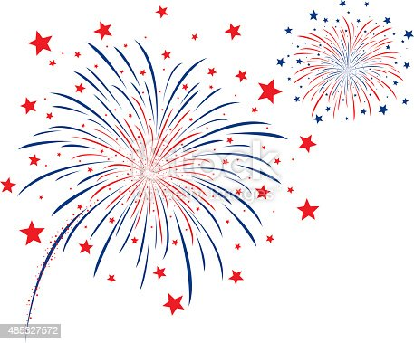 Vector Firework Design On White Background stock vector ...