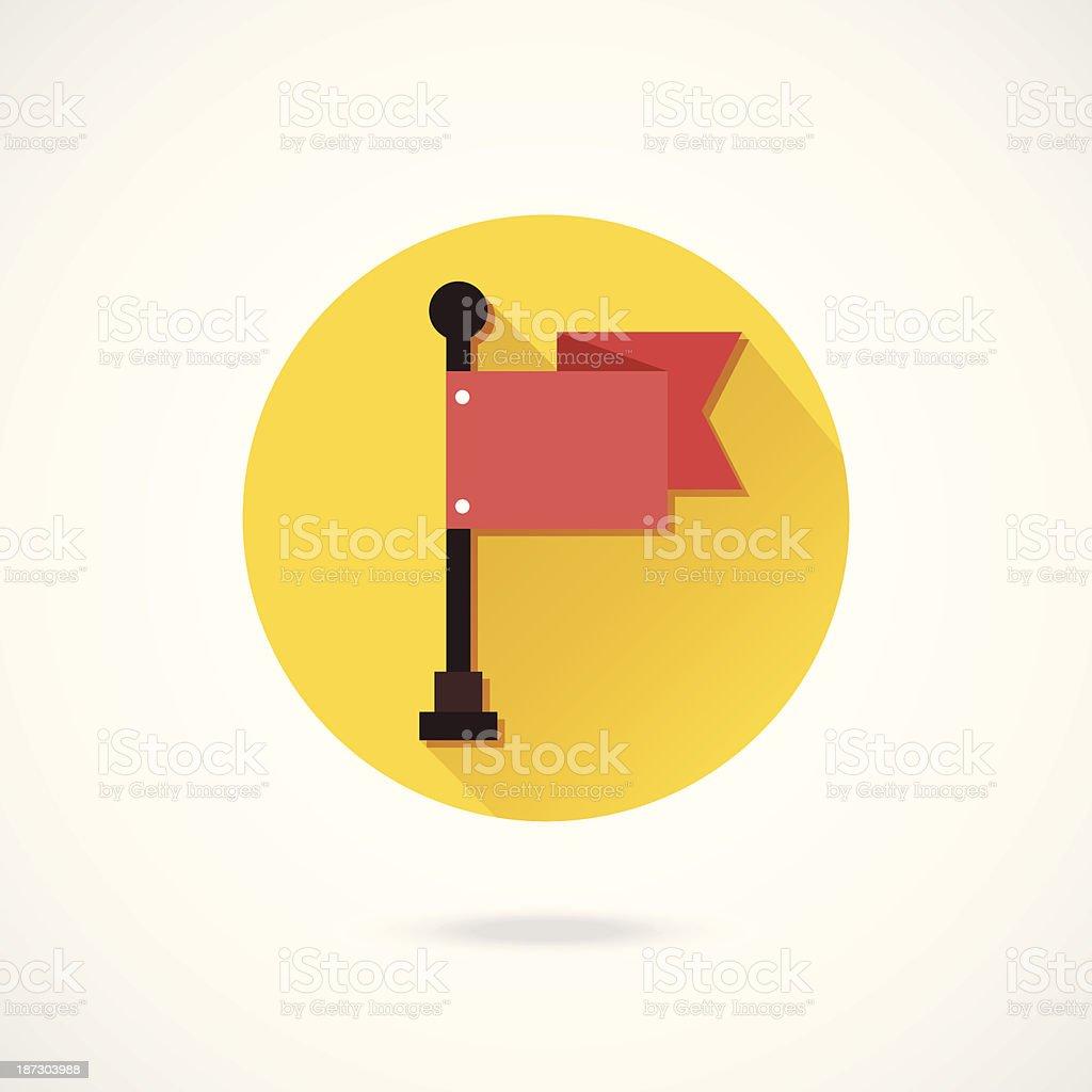 Vector Flag Icon royalty-free stock vector art