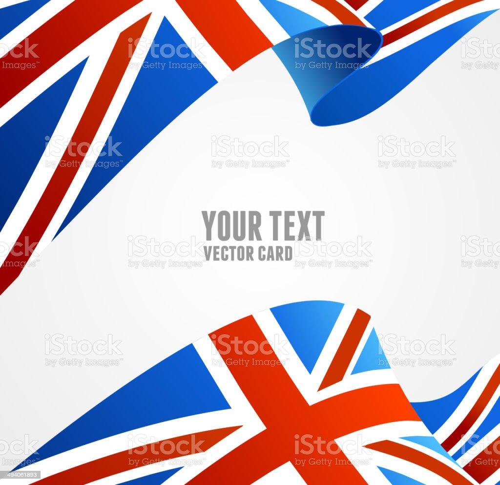 Vector Flag of UK. Border vector art illustration