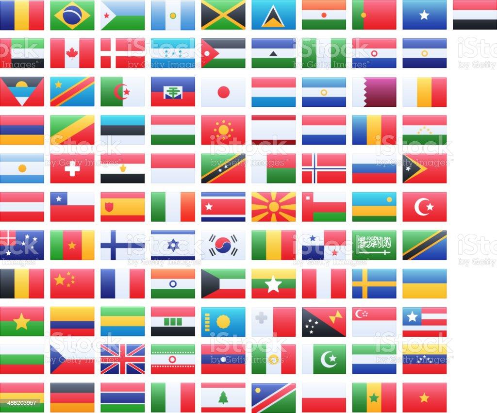 Vector Flags vector art illustration