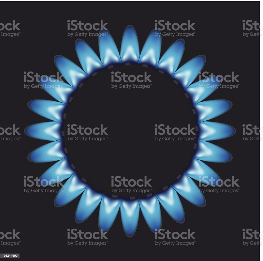 vector flames of gas royalty-free stock vector art