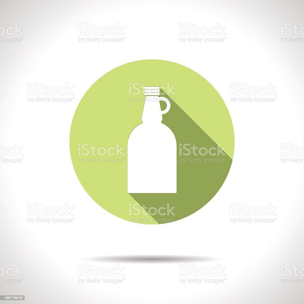 Vector flat apple cider vinegar bottle template vector art illustration