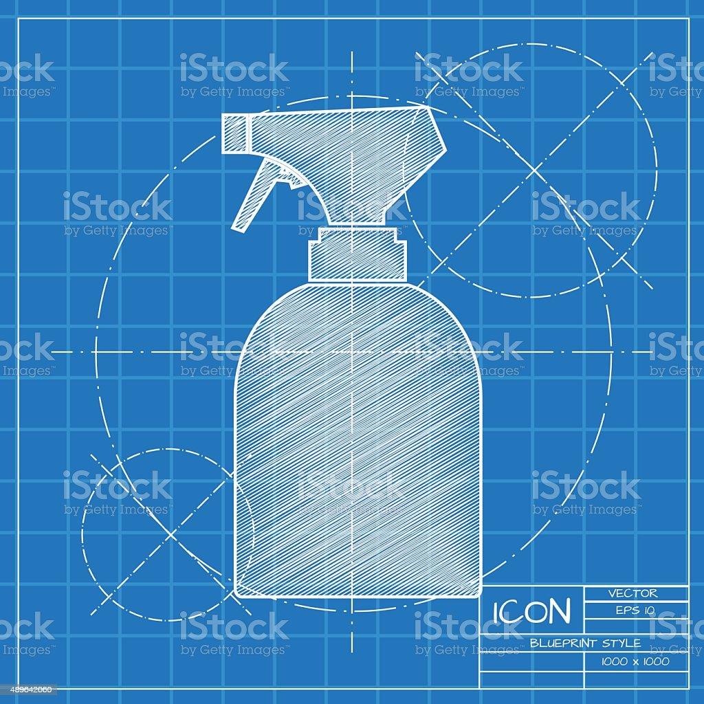 Vector flat bottle vector art illustration