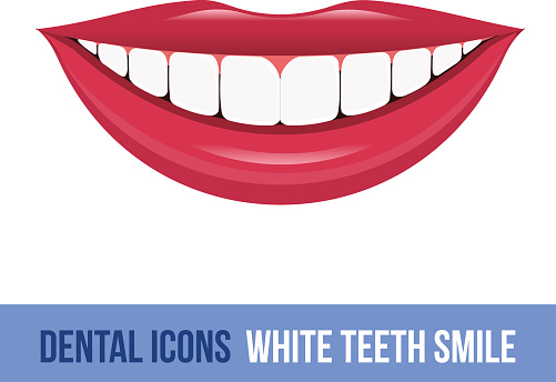 Silhouette Of Dental Teeth Perfect Smile Woman Clip Art ...