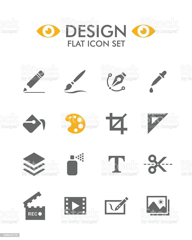 Vector Flat Icon Set - Design vector art illustration
