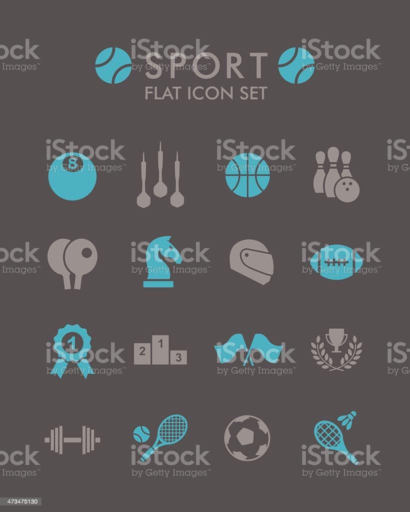 Vector Flat Icon Set - Sport vector art illustration