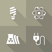 Vector Flat Icons - Energy
