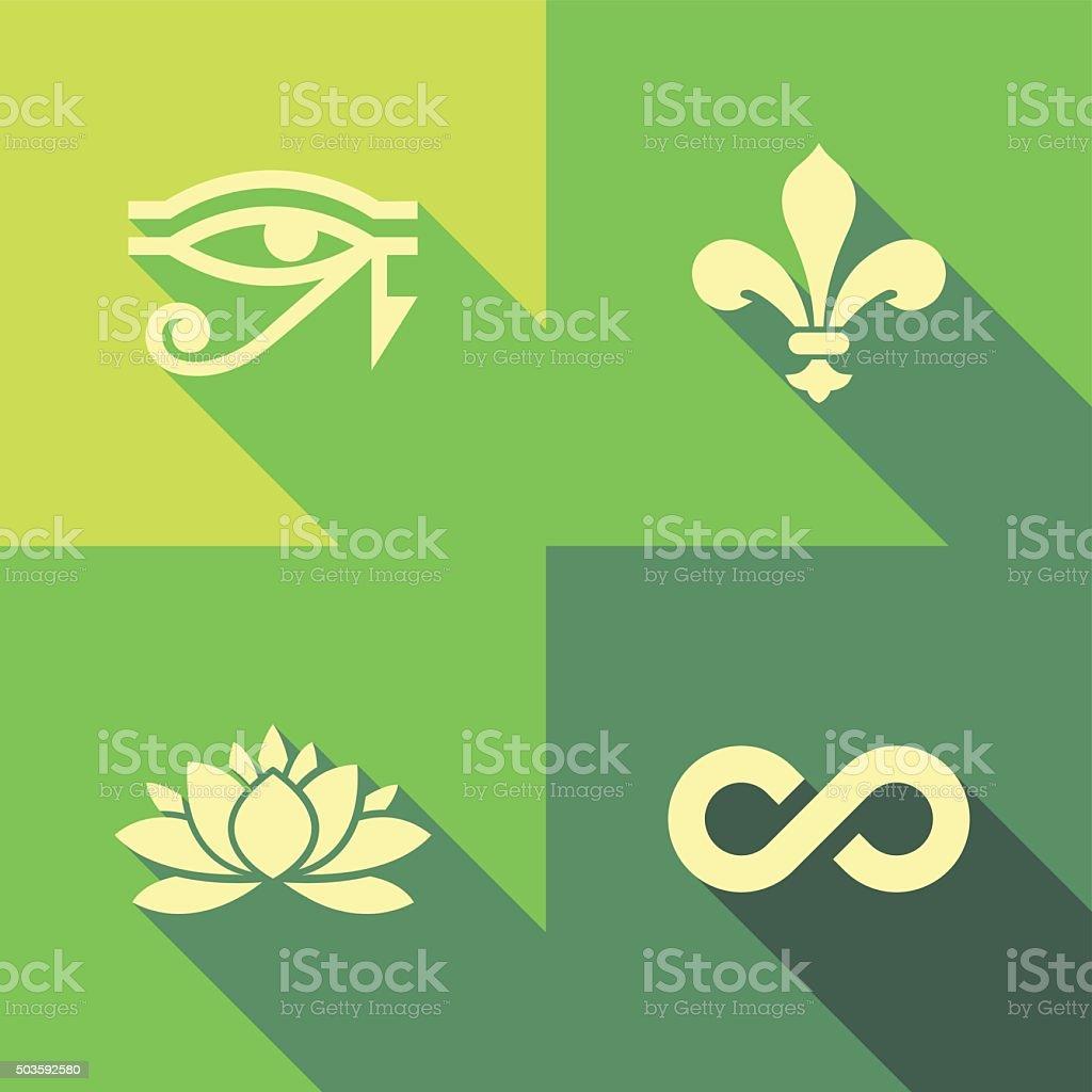 Vector Flat Icons - Symbols vector art illustration