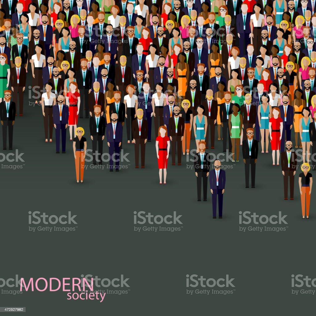 vector flat illustration of business or politics community. vector art illustration