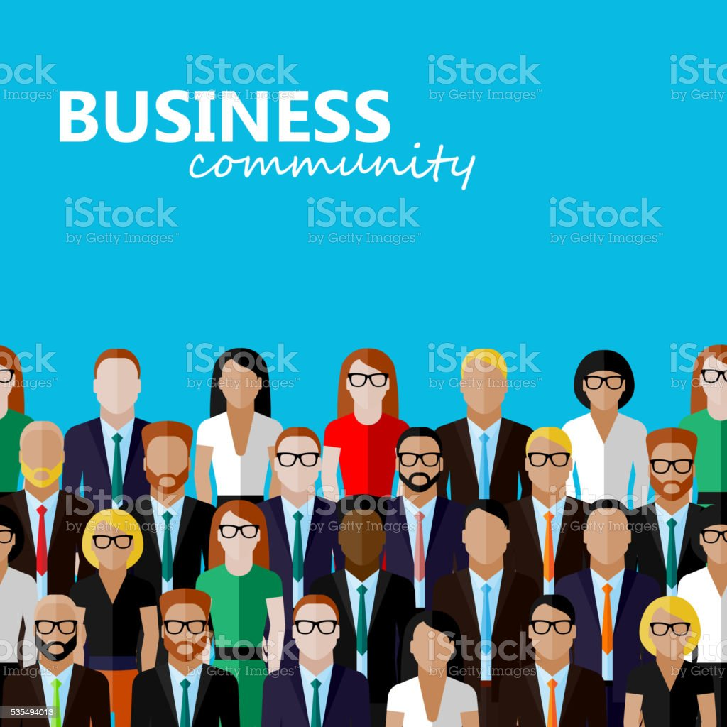 vector flat  illustration of business or politics community. vector art illustration