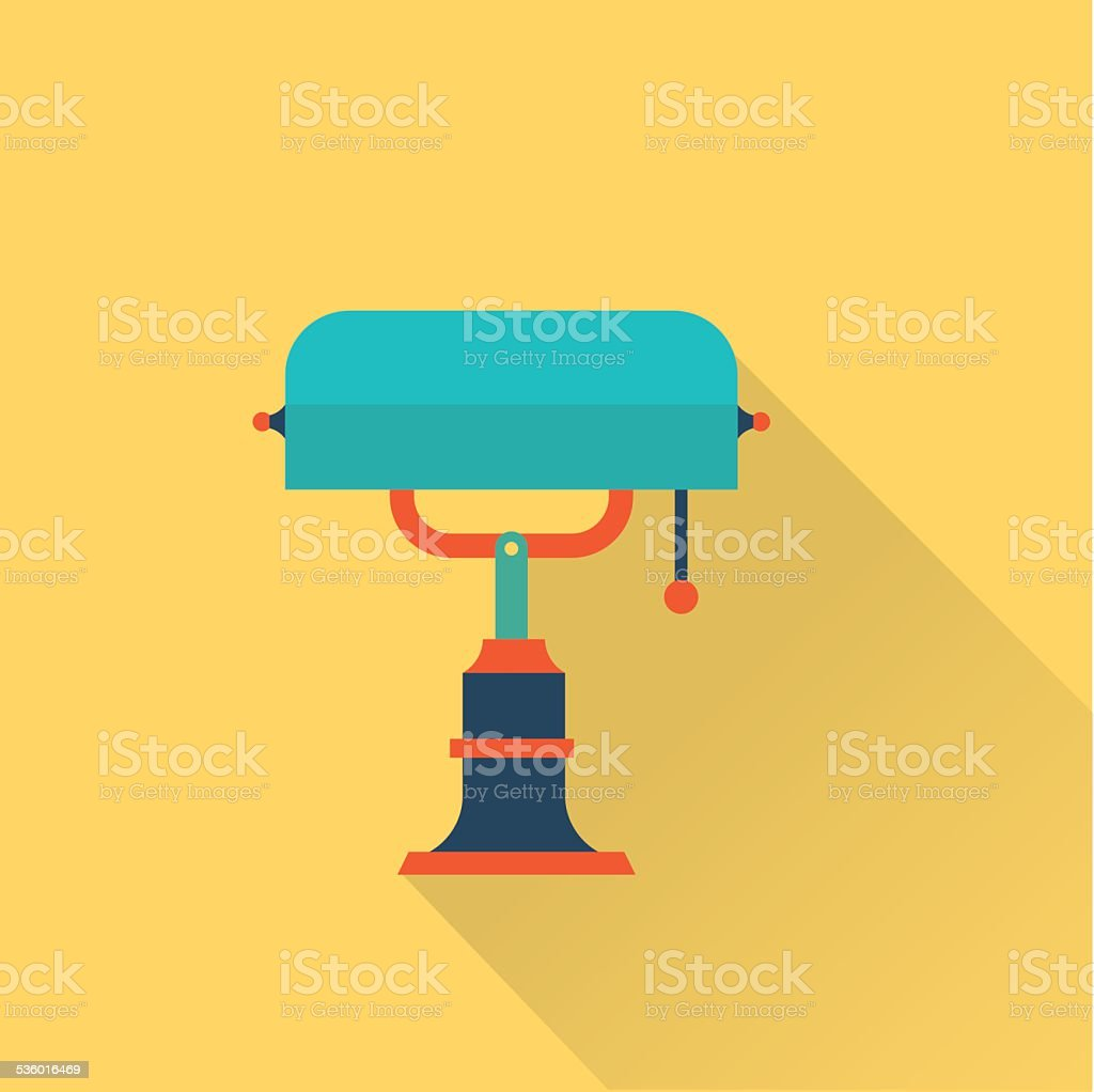 vector flat library lamp icon vector art illustration