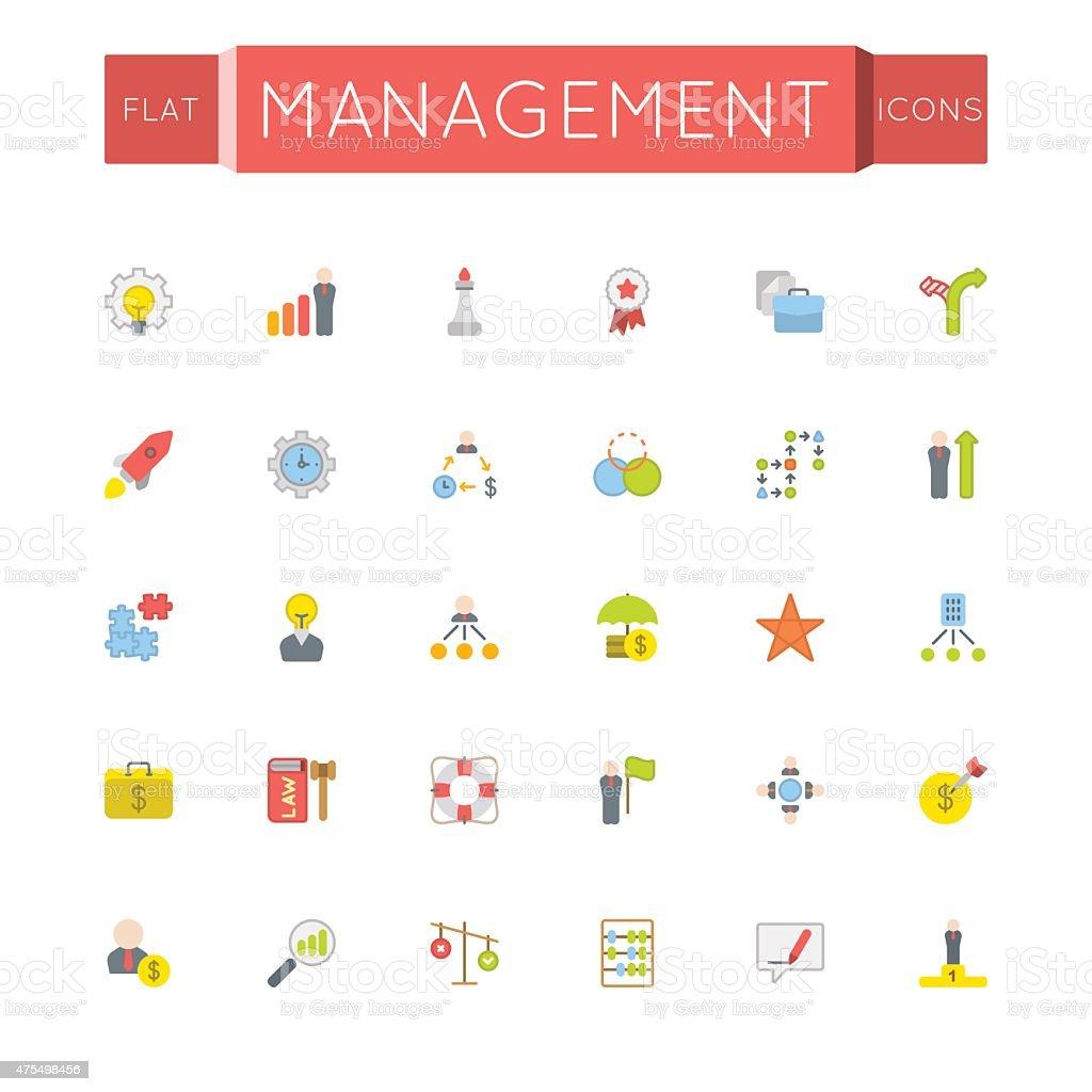 Vector Flat Management Icons vector art illustration